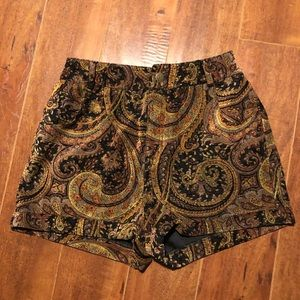 Mink Pink High Waist Paisley Shorts